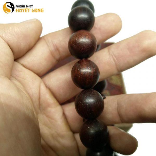 Vòng Tay Gỗ Tử Đàn Tiểu Điệp Sao Ấn Độ 12 Ly (Size Nam) (Sao chép)
