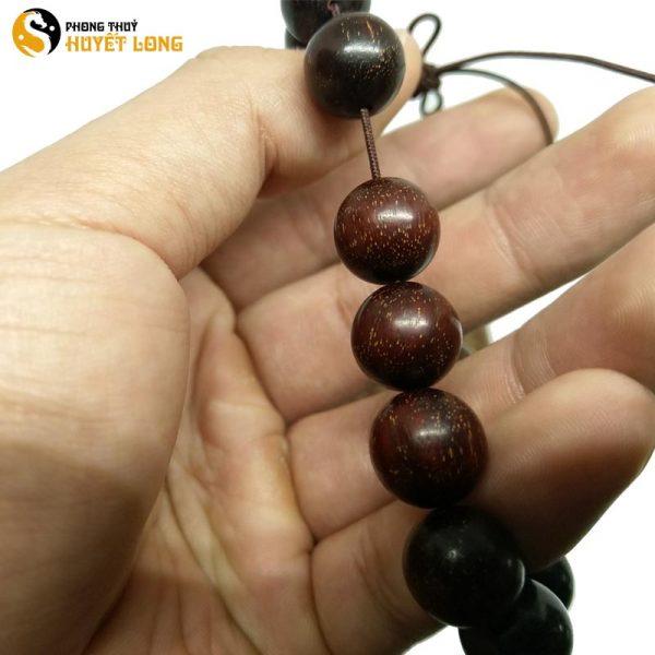 Vòng Tay Gỗ Tử Đàn Tiểu Điệp Sao Ấn Độ 12Ly (Size Nam)